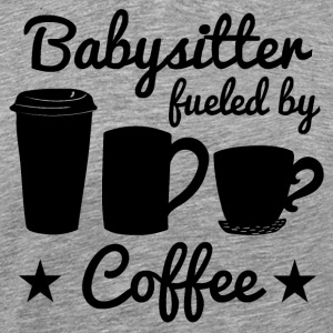 Babysitter Fueled By Coffee - Men's Premium T-Shirt