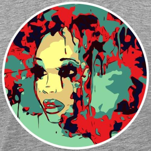 Afro Paint Art Natural Hair Beauty Pretty Girl - Men's Premium T-Shirt