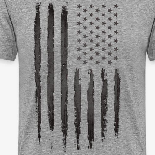 Black Grunge USA Flag
