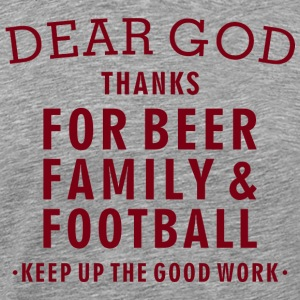 Football Lover - Beer Family Football - Men's Premium T-Shirt