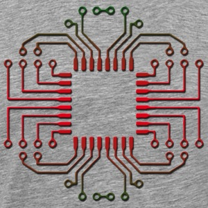 Electric Circuit Board Processor - Men's Premium T-Shirt