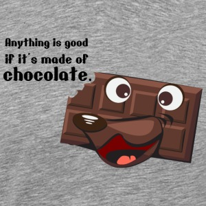 Anything good with chocolate - Men's Premium T-Shirt