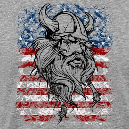 Viking Warrior American Pride - Men's Premium T-Shirt