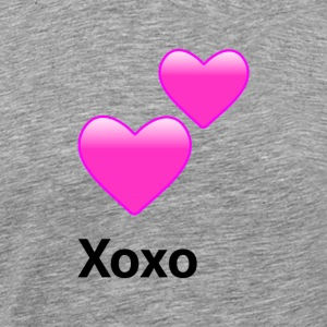 Xoxo Hearts - Alt. Design (Pink Hearts) - Men's Premium T-Shirt