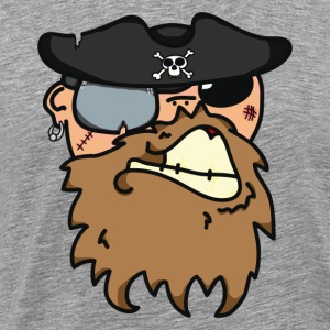 Pirates face - Men's Premium T-Shirt