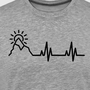 Heartbeat of a Traveler - Men's Premium T-Shirt
