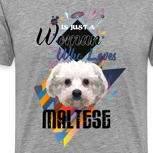 who loves maltese - Men's Premium T-Shirt
