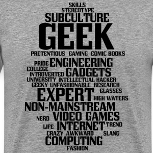Geek (geeky, nerd) - Men's Premium T-Shirt