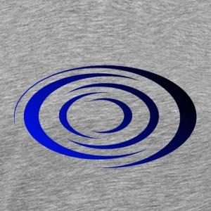 Spirale Bleu/Noir - T-shirt premium pour hommes