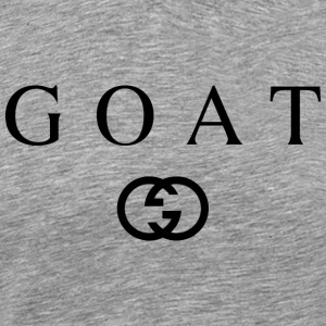 Goat - G Designer Design (Black) - Men's Premium T-Shirt