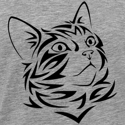 Tribal Kitten Design - Men's Premium T-Shirt