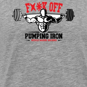 Pumping Iron Muscle Making Machine - Men's Premium T-Shirt