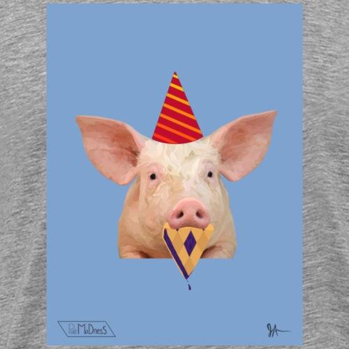 Party Hat Pig - Men's Premium T-Shirt