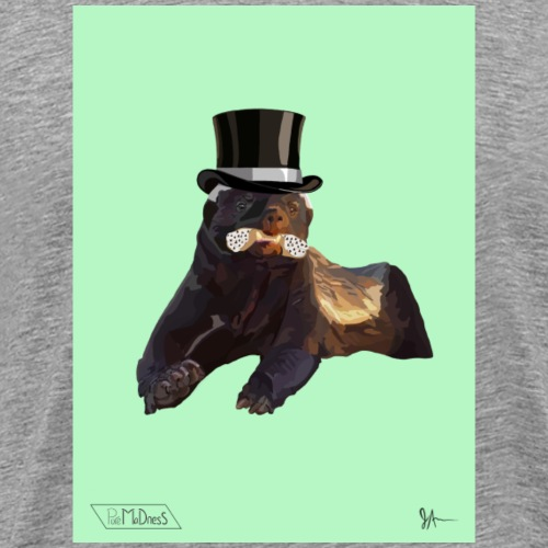 Top Hat Badger - Men's Premium T-Shirt