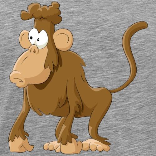 Cartoon animal monkey wildlife funny vector image - Men's Premium T-Shirt