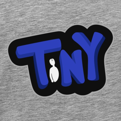 Tiny-Logo-Blue-Black - Men's Premium T-Shirt
