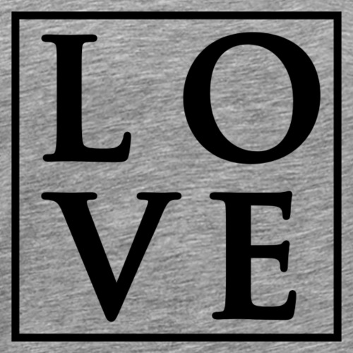 Love - Fancy Square Design (Black Letters) - Men's Premium T-Shirt