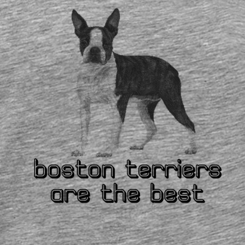 boston terriers are the best! - Men's Premium T-Shirt