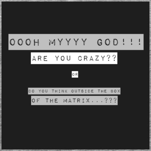OOOH MY GOD !!! (grey) - Men's Premium T-Shirt