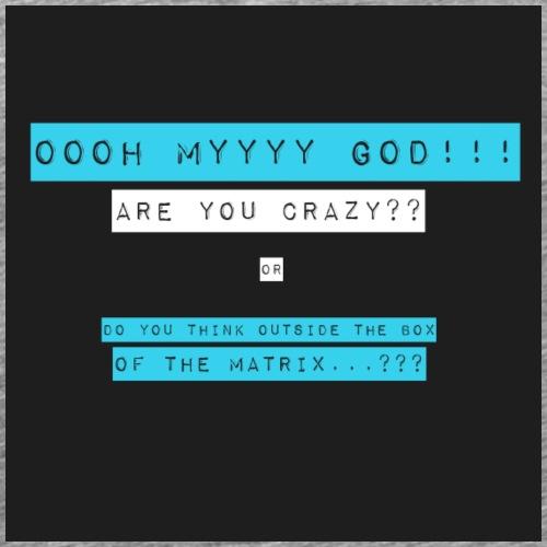 OOOH MY GOD !!! (blue) - Men's Premium T-Shirt