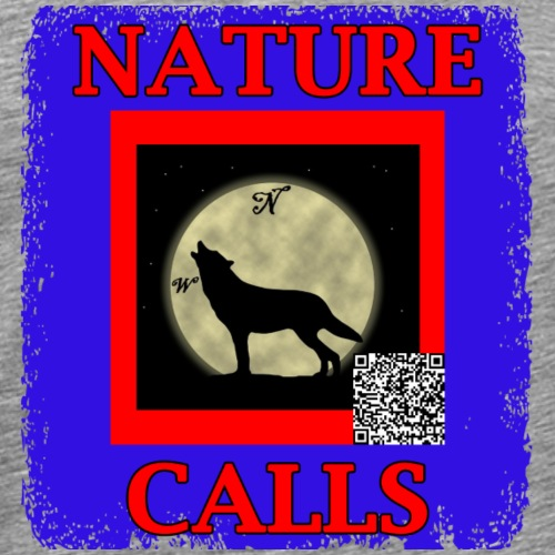 Nature Calls Logo and QR Code - Men's Premium T-Shirt