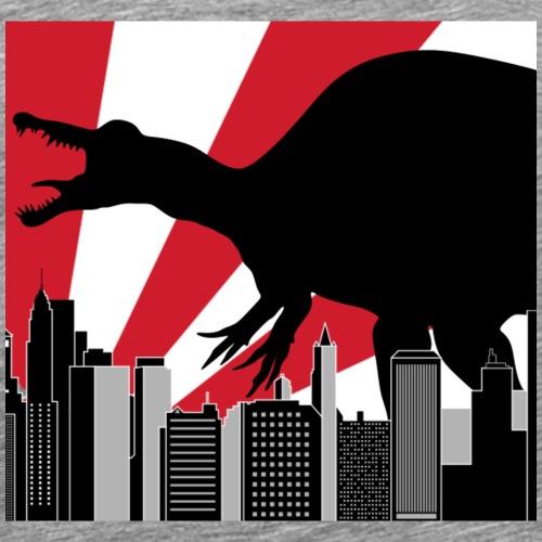 Spinosaurus Godzilla in Tokyo Japan City - Men's Premium T-Shirt