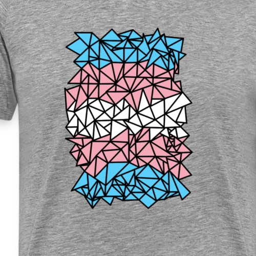 Crystallized Transgender Flag - Men's Premium T-Shirt