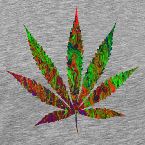 Psychedelic Pot Leaf - Men's Premium T-Shirt