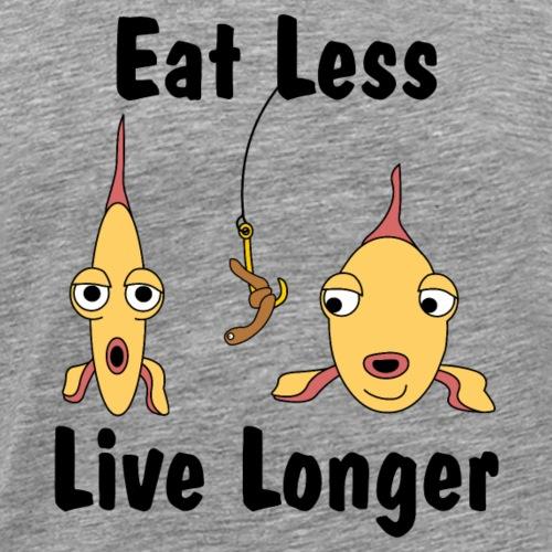 Eat Less Live Longer - Men's Premium T-Shirt
