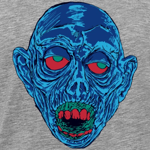 Graveyard Ghoul Shocking Blue - Men's Premium T-Shirt