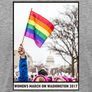 Women's March on Washington 2017-Rainbow Flag - Men's Premium T-Shirt