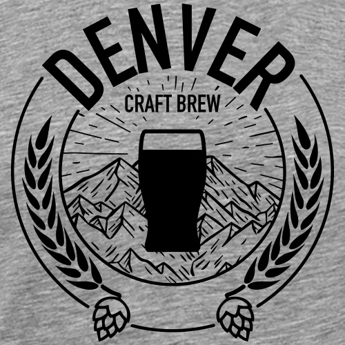 Denver Craft Brew - Black Logo - Men's Premium T-Shirt