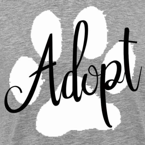 Large Paw Adopt - Men's Premium T-Shirt