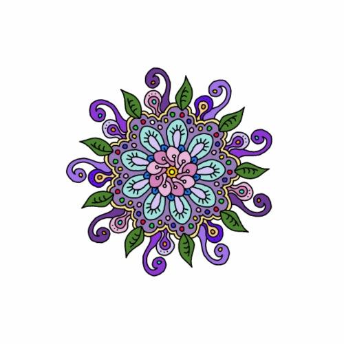 Purple Flower Mandala - Men's Premium T-Shirt
