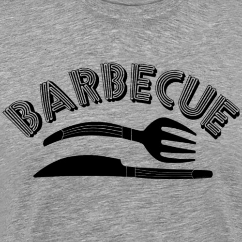 Barbecue Knife and Fork - Men's Premium T-Shirt