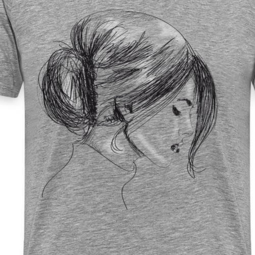 Drawing woman - Men's Premium T-Shirt
