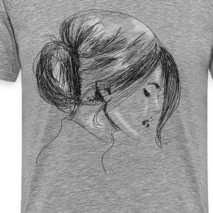 Drawing woman - Men's Premium T-Shirt
