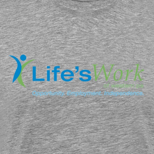 Life sWork Standard Logo - Grey - Men's Premium T-Shirt