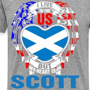I Live In The Us But My Heart Is In Scott - Men's Premium T-Shirt