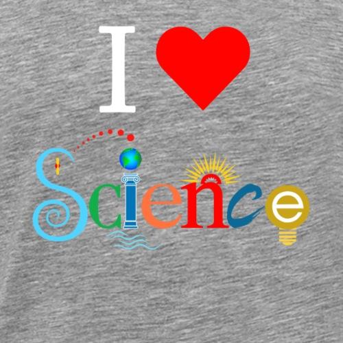 I Love Science - Men's Premium T-Shirt