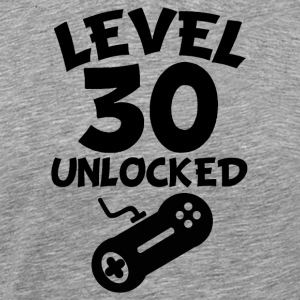 Level 30 Unlocked Video Games 30th Birthday - Men's Premium T-Shirt