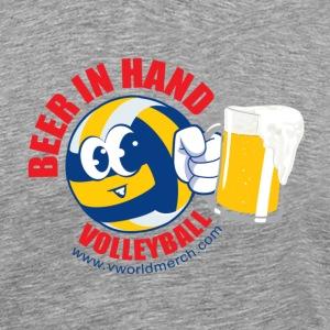Beer in Hand Volleyball - Men's Premium T-Shirt