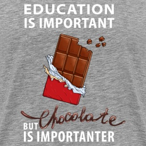 Chocolate is Importanter - Men's Premium T-Shirt
