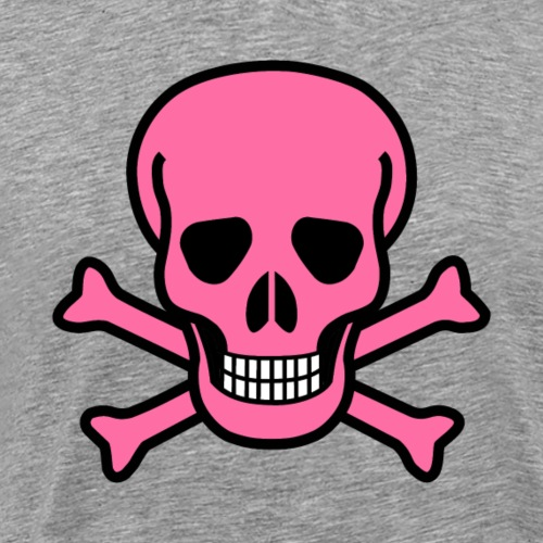 Pink Pirate Skully - Men's Premium T-Shirt