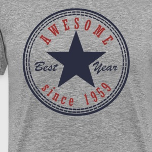 58th Birthday Awesome since T Shirt Made in 1959 - Men's Premium T-Shirt