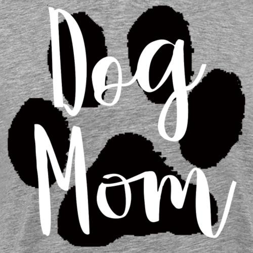 Dog Mom Large Paw - Men's Premium T-Shirt