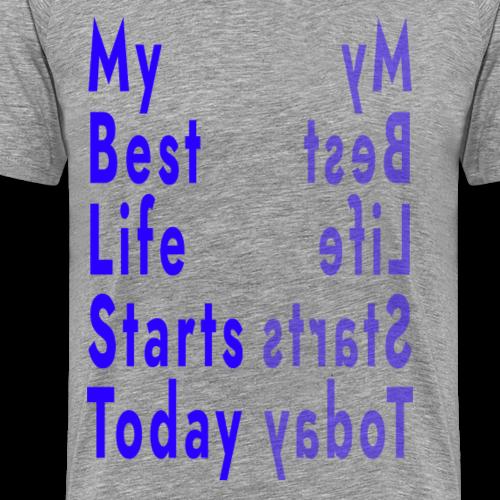 MBLST Reflection (Blue) - Men's Premium T-Shirt