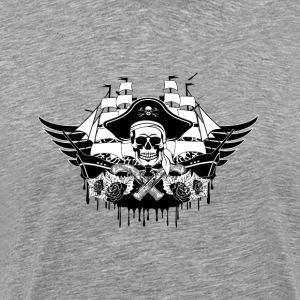 Cool pirate ship with skull - Men's Premium T-Shirt