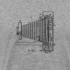 Retro Polaroid Folding Camera Blueprint - Men's Premium T-Shirt