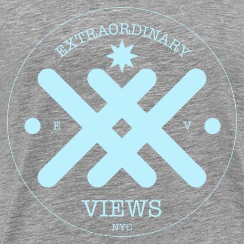EX Views Logo Blue - Men's Premium T-Shirt